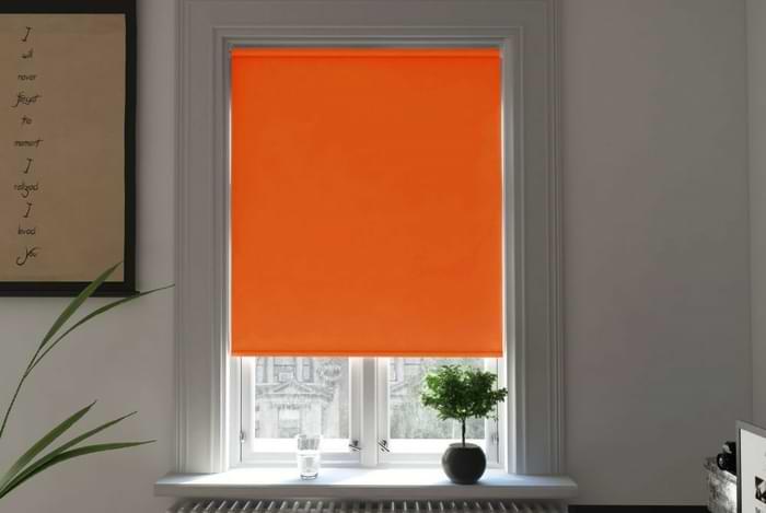 Bosa Tangerine Blackout Electric Roller Blind