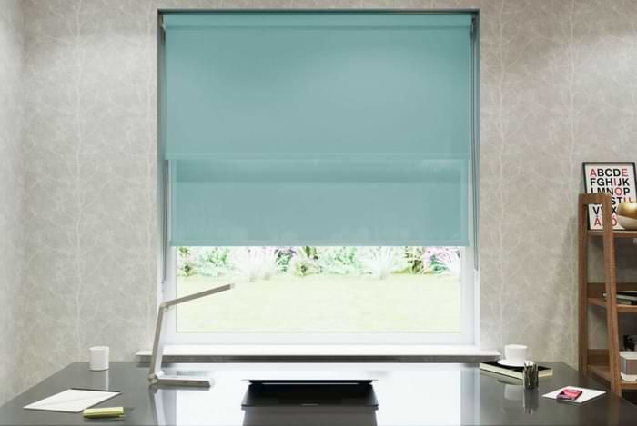 Cool Blue Double Roller Blind