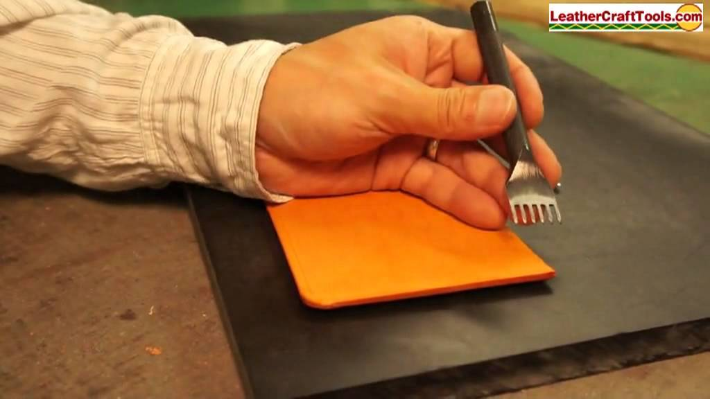 Punching Sewing Holes Using the Stitching Chisel