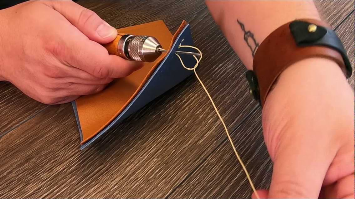 Sewing With A Sewing Awl