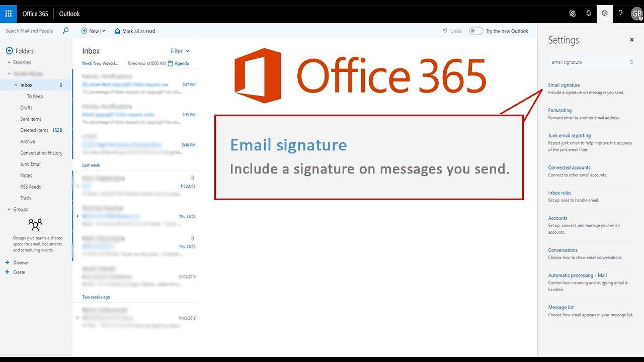 Add an E-mail Signature