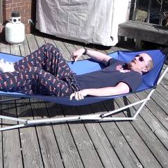 Hammock Chair Stands Diy Orange Fabric Portable Stand Design Ideas