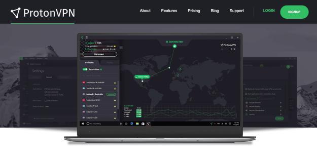 Proton VPN Home Page
