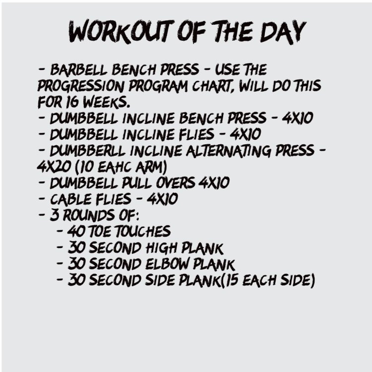 Chest Workout of the Day (10-28)