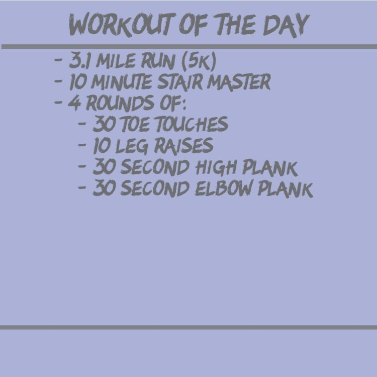 Cardio Workout (WOD 10/24)