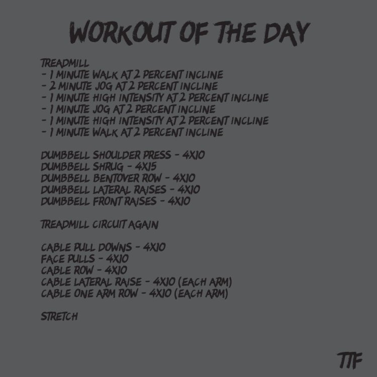Back and Shoulder Workout with Cardio