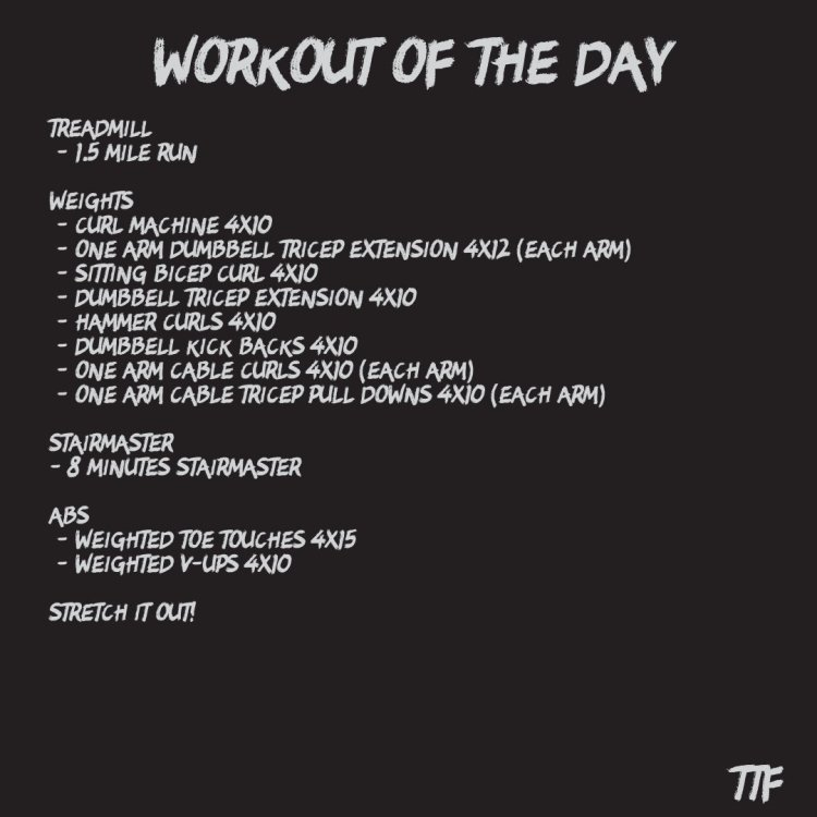An Explosive Arm Workout