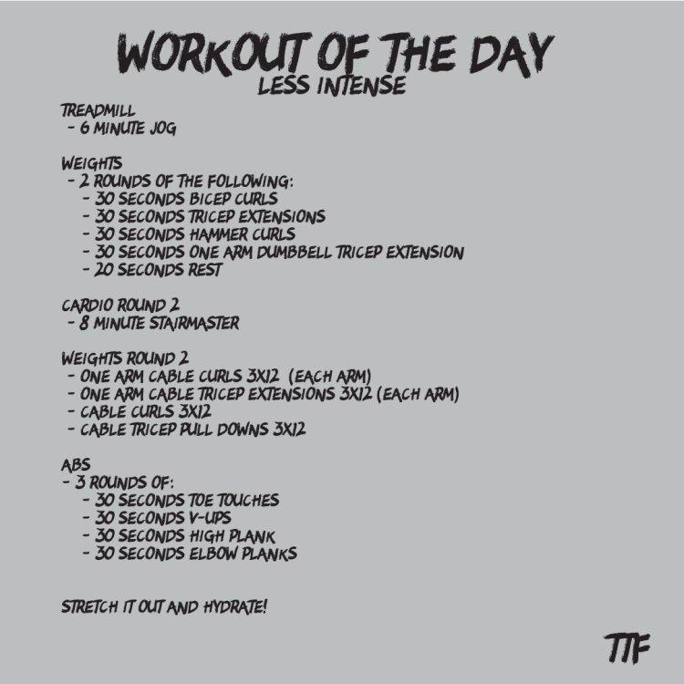 HIIT arm workout circuit
