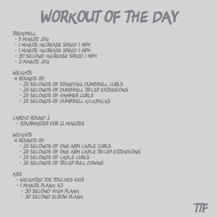 Time Based HIIT Arm Circuit