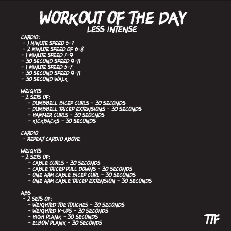 bicep and tricep HIIT workout