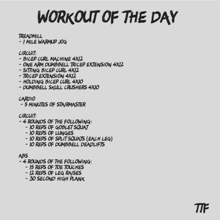 HIIT Leg and Arm Workout