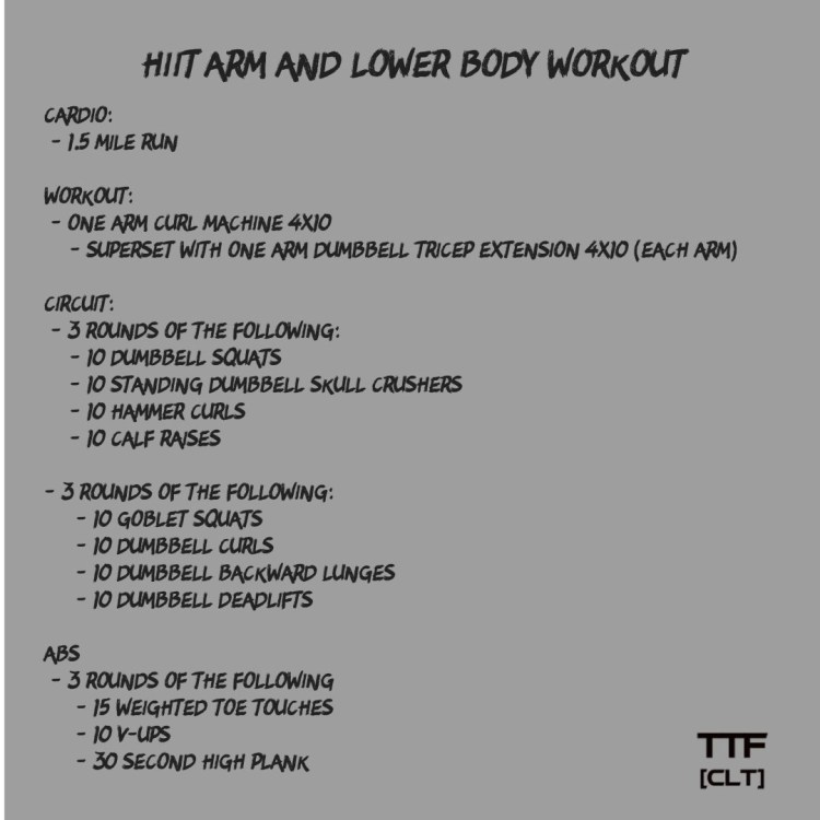 HIIT Arm and Lower Body Workout