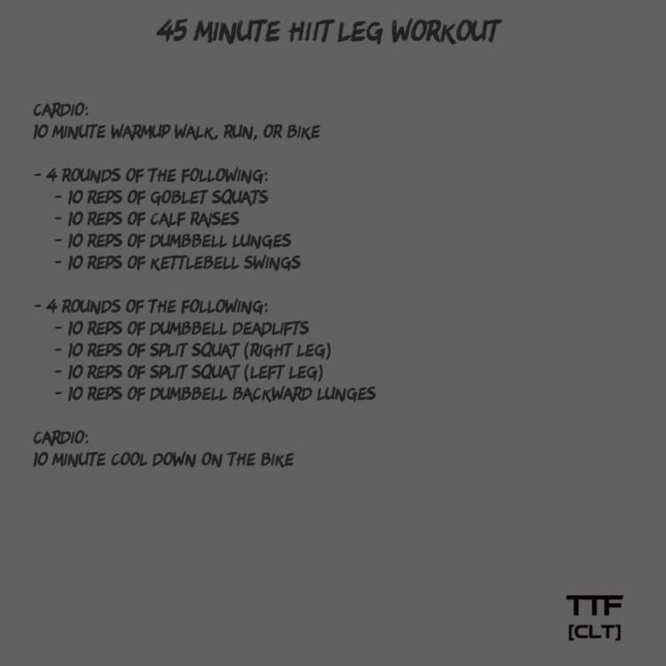 45 Minute HIIT Leg Workout