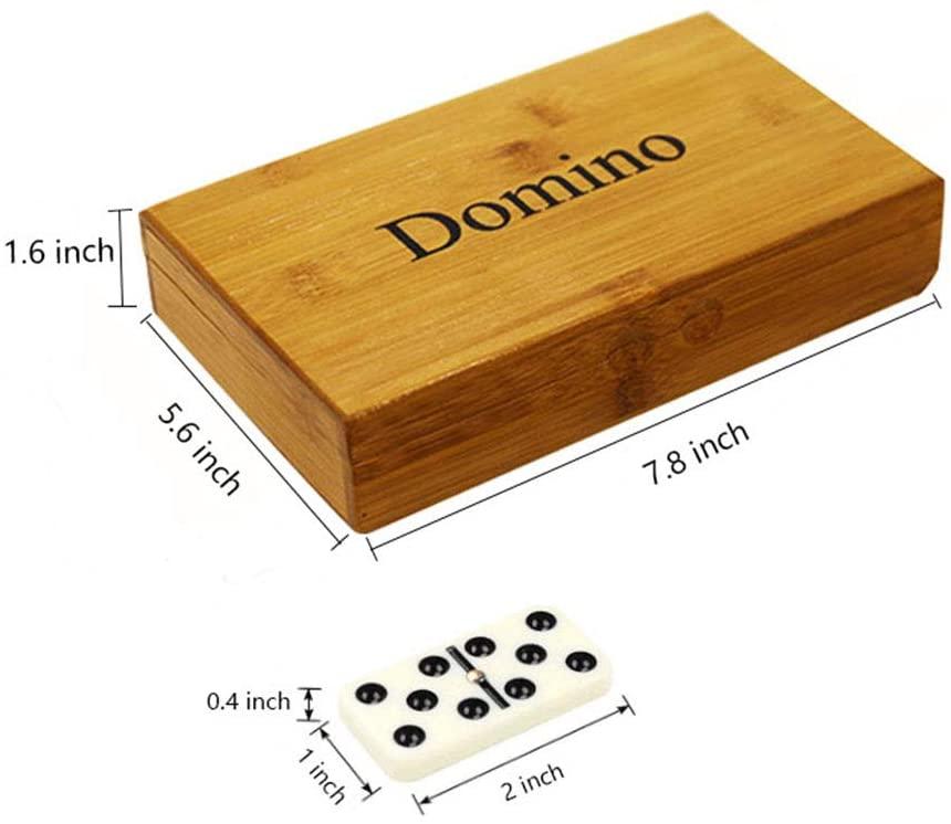 Zdada Double 6 Dominoes Set for Children Dominos Set for Adults Dominoes Double Six Set in Wooden Box - TopToy