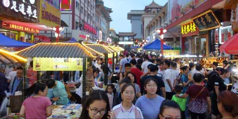 Night Market, Dunhuang, China
