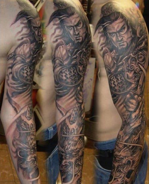 Warrior Tattoos Sleeves : warrior, tattoos, sleeves, Sleeve, Tattoos, Design, Ideas, (2021, Guide)