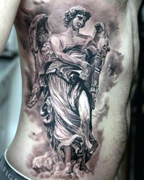 Angel Tattoos On Chest : angel, tattoos, chest, Angel, Tattoos, Design, Ideas, (2021, Guide)