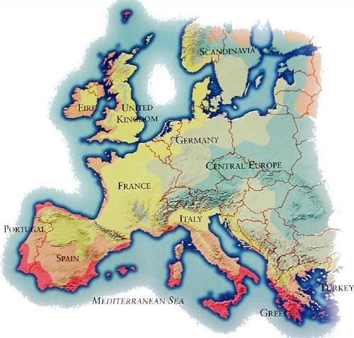Plant Hardiness Zone Map Europe