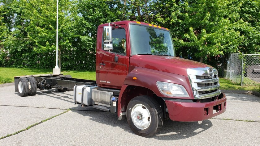 2014 Hino 258 low profile cab and chassis