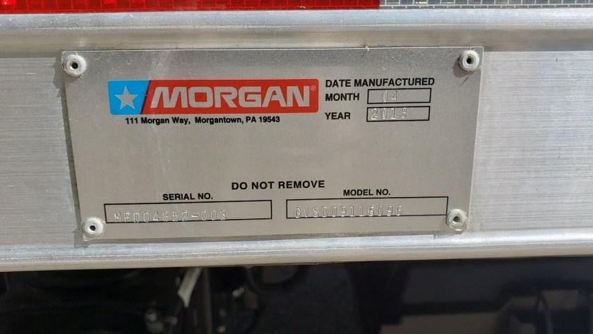 2018 Isuzu NPR with 16 Morgan aluminum dry van