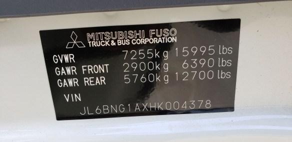 2017 Fuso FE160  16 Morgan body