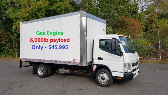 2019 Mitsubishi-Fuso FE140 GAS with 16′ x 91″ x 96″ Alum Van Body – 14,500 GVW Selling Price - $45,995