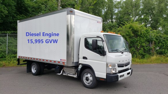 2018 Mitsubishi-Fuso FE160 diesel with Morgan 16′ van body, 15,995 GVW    Selling Price - $49,995