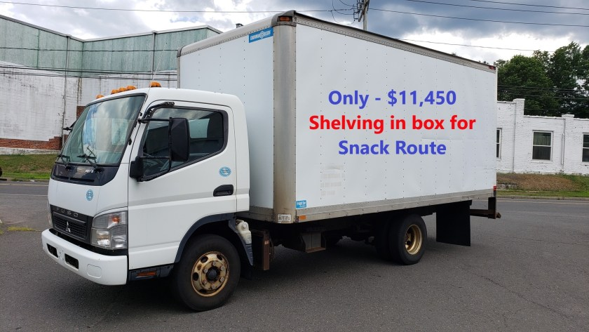 2009 Fuso FE145 with a 16' Grumman-Olson alum van body. 4 cyl diesel engine and auto trans.