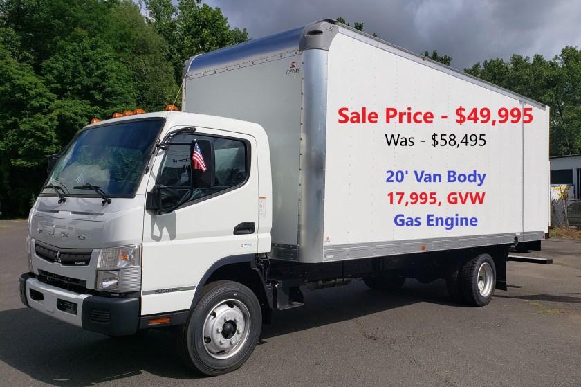 2020 Mitsubishi-Fuso FE180 Gas with 20' Supreme Alum Van Body, 17,995 GVW.  Selling Price - WAS  $58,945     NOW - $49,995