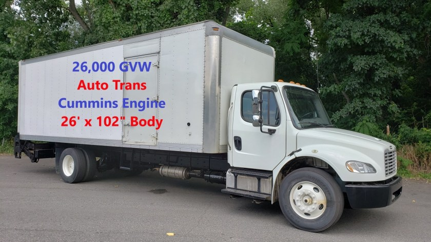 "2014 NON CDL Freightliner M2 with a Morgan 26' x 97"" x 102"" alum van body with gate & ramp.