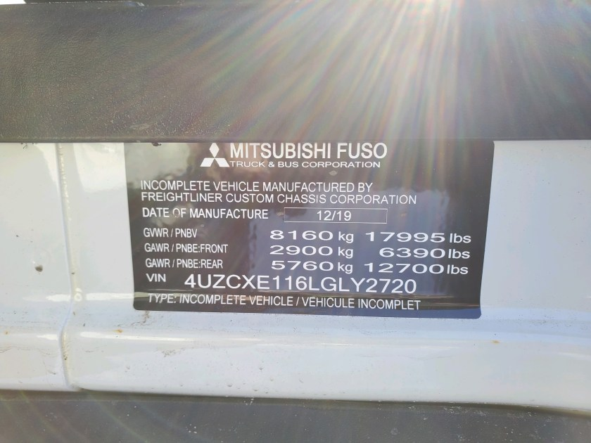 2020 Fuso FE18g with switch-n-go