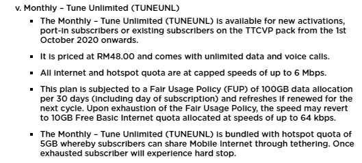 fair usage policy unlimited tune talk