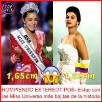 ROMPIENDO ESTEREOTIPOS- Estas son las Miss Universo más bajitas de la historia