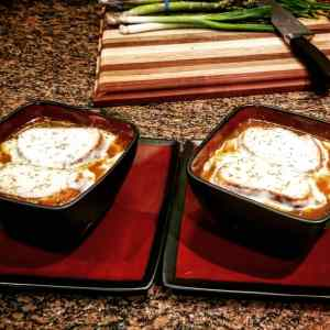 Image of French Onion Soup during Top Water Cooking's Personal Chef service, Date night, in Berks County