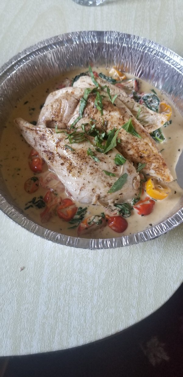 Tuscan Chicken for a Meal Drop off in Reading Pennsylvania with Top Water Cooking Personal Chef Services in Reading Pennsylvania