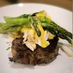 Crab Topped Filet with Bernaise from Top Water Cooking Private Chef Services