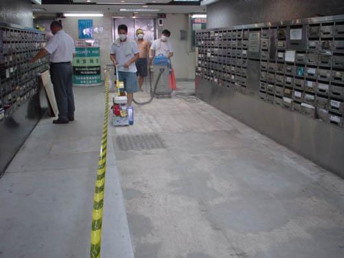 新界荃灣柴灣角街榮興商業大廈地下大堂 - Top waterproof Engineering Ltd.