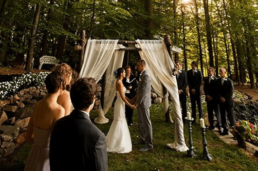 Small Wedding Ceremony With A Big Reception