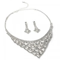 Matching Earrings And Necklace Blue White Chinese Style ...