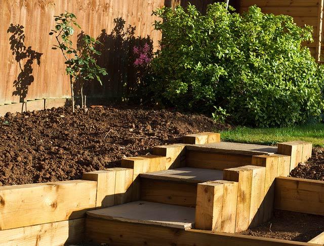 Garden Sleepers For Landcsaping Ideas Transform Your Garden