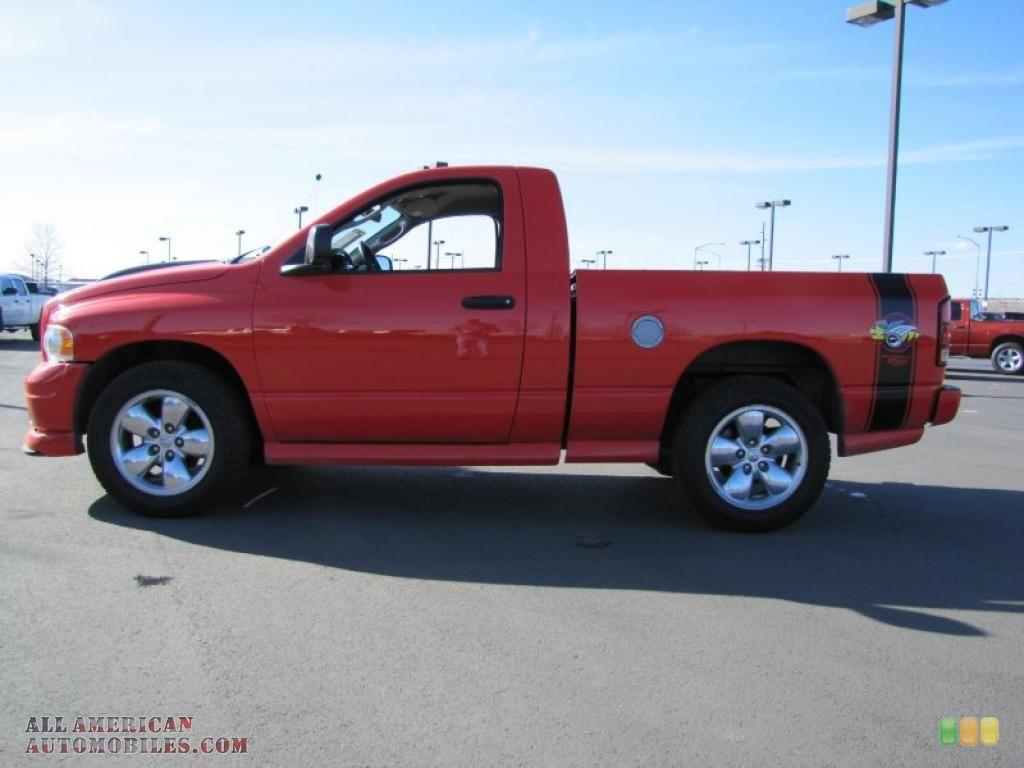 hight resolution of 2005 dodge ram 1500 slt rumble bee regular cab in flame red photo 3 edit and