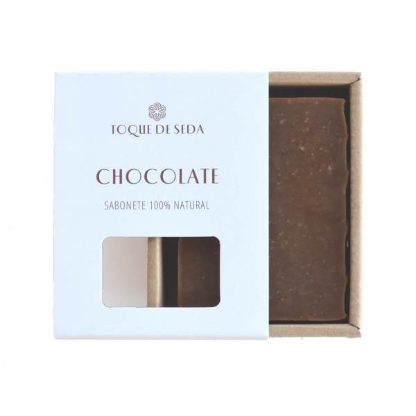 sabonete de chocolate artesanal em caixa de cartão
