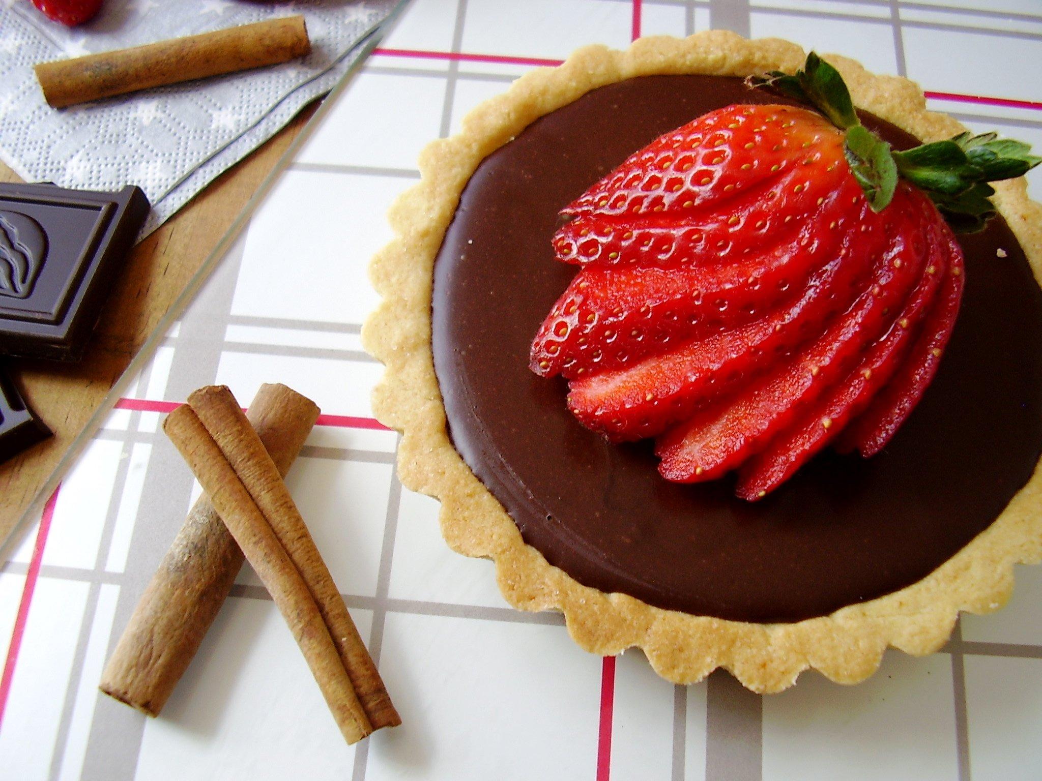 tarte fraise chocolat sans cuisson