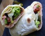 Wrap saumon fumé-crudités