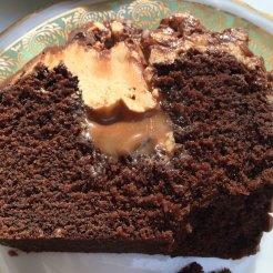 Le gâteau snickers vu de près