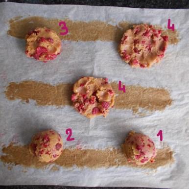 comparatif cookie avant cuisson