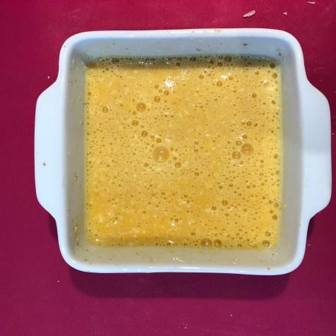 omelette avant cuisson