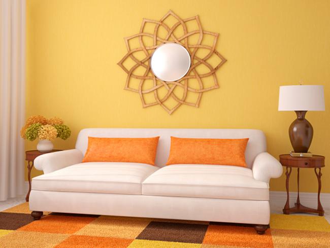 Efecto de los colores en la decoracin de tu casa sala