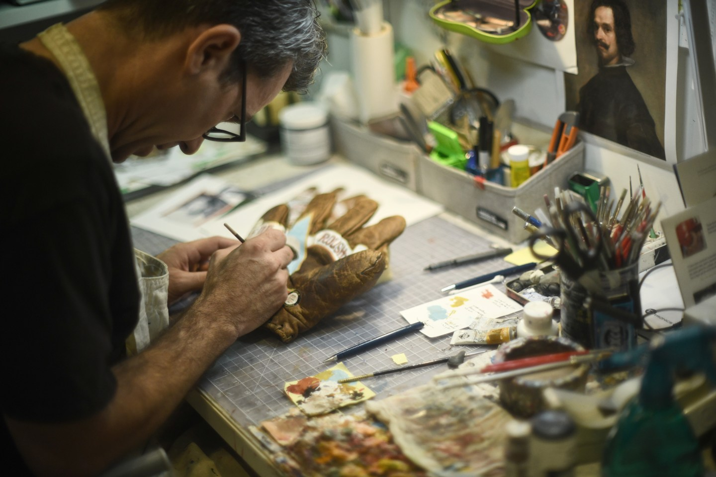 CRAFTING NOSTALGIA:  SEAN KANE AND HIS PAINTED GLOVES