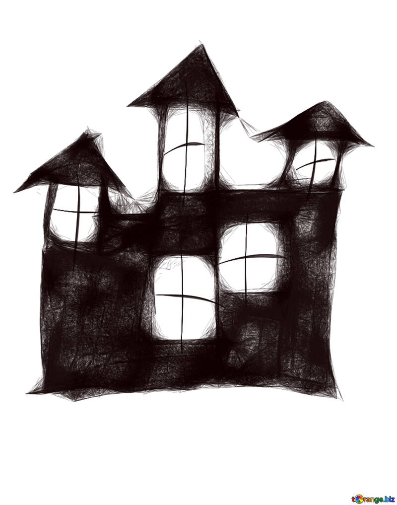 medium resolution of clipart maison scary halloween